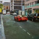 Ferrari in Soho, 55x 35cm, oil on canvas, 2016