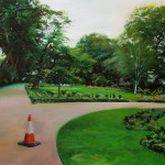 Whitehall Gardens, 90 x 120cm, oil on canvas, 2016