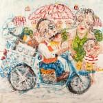 Θωμάς Τουρναβίτης_λάδι σε καμβά_The Collector of Dreams_120x130 cm