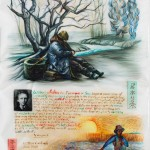 Γιάννης-Γιγουρτάκης,-Vincent-and-Vincent-ακουαρέλα,γκουάς,-cσινική-μελάνη-σε--Γιαπωνέζικο-χαρτι-Maruishi,-60Χ90,-2017