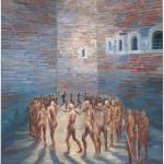 Λίλ-Αγραφιώτη,-Prisoners-Exercising,after-Dore,-70x50cm-λάδι-σε-καμβά,-2017