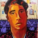 TECHNOHOROS ART GALLERY_Vassilis Karakatsanis_Dave's portrait, in Tel Aviv-Yafo Israel_2016_acrylic & oil on paper mounted on canvas_40x30 cm_500 € (1)
