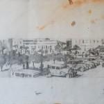 Δημήτρης Κρέτσης_Πλατεία Αγρινίου 1945_1950_1997_μολύβι σε χαρτί_13x49 cm