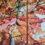 Δημήτρης Κρέτσης_Φύλλα_2011_ακρυλικά σε καμβά_100x220 cm