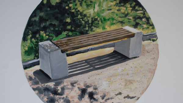 Bench of Contemplation 90x70cm